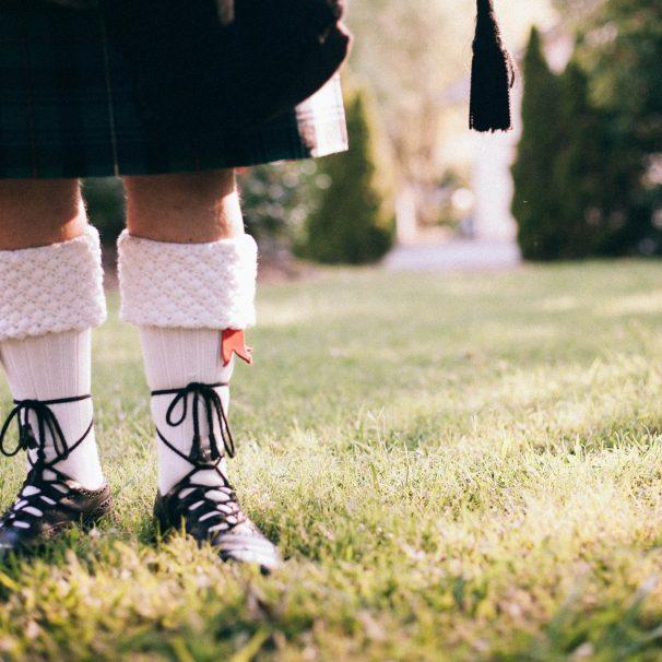 Kilt écossais et brogues
